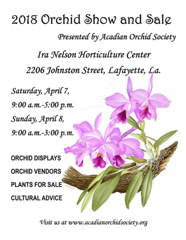2018 Orchid Show Flyer